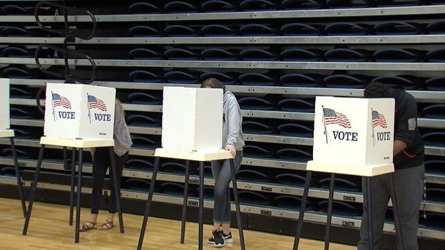 Middle school students take part in national mock election