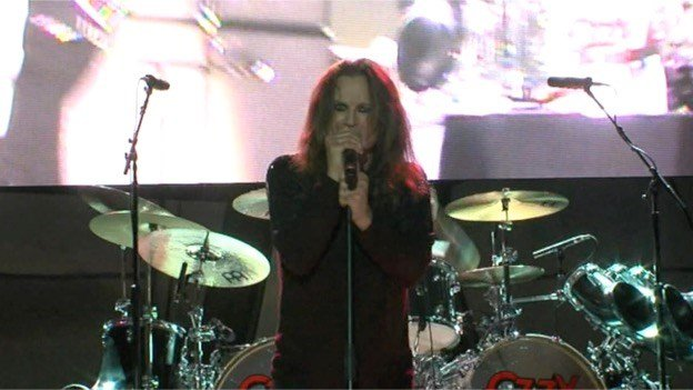 Ozzy Osbourne sings 'Bark At The Moon' during eclipse