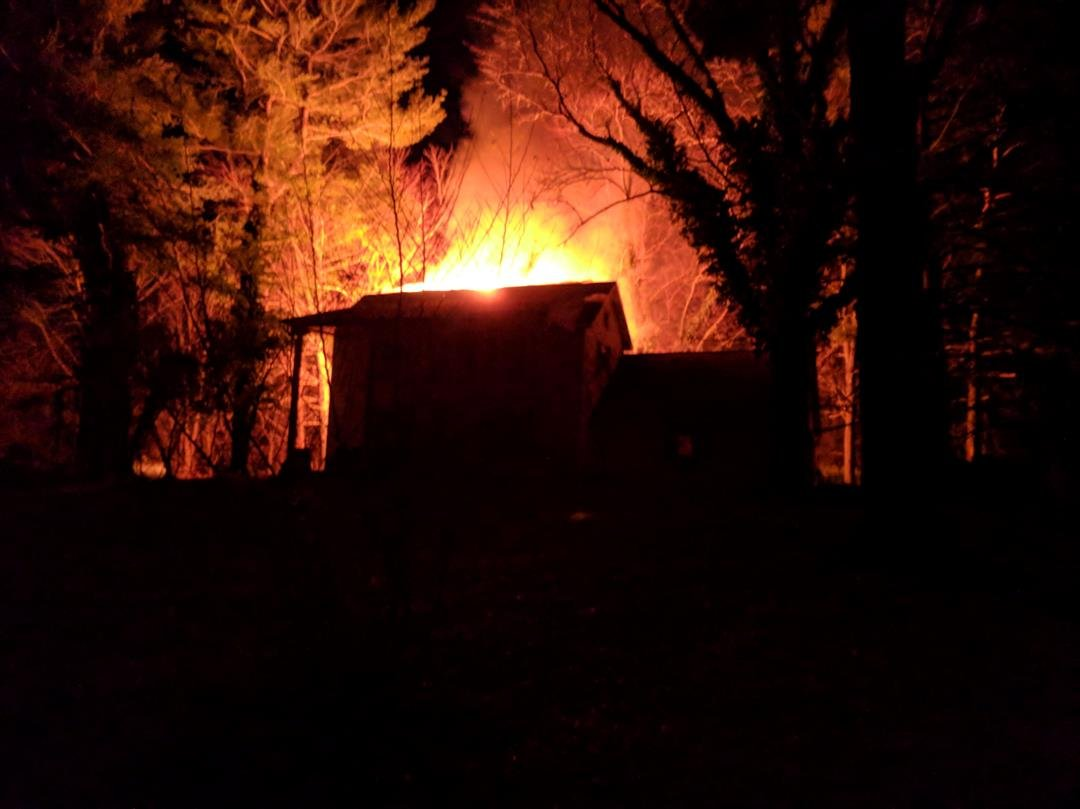 News 3 Viewer Geoffrey Stock sent this picture of the fire.