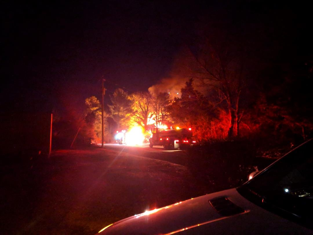 News 3 viewer Geoffrey Stock sent this photo of the fire.