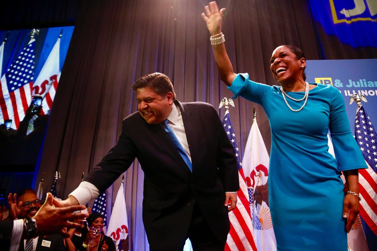 Illinois Governor Ekes Out Primary Win