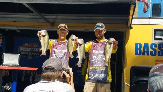 Duo Of Dailus Richardson And Trevor Mckinney Started The Final Day Of Competition In Th Place At The Bassmaster High School National At Kentucky Lake