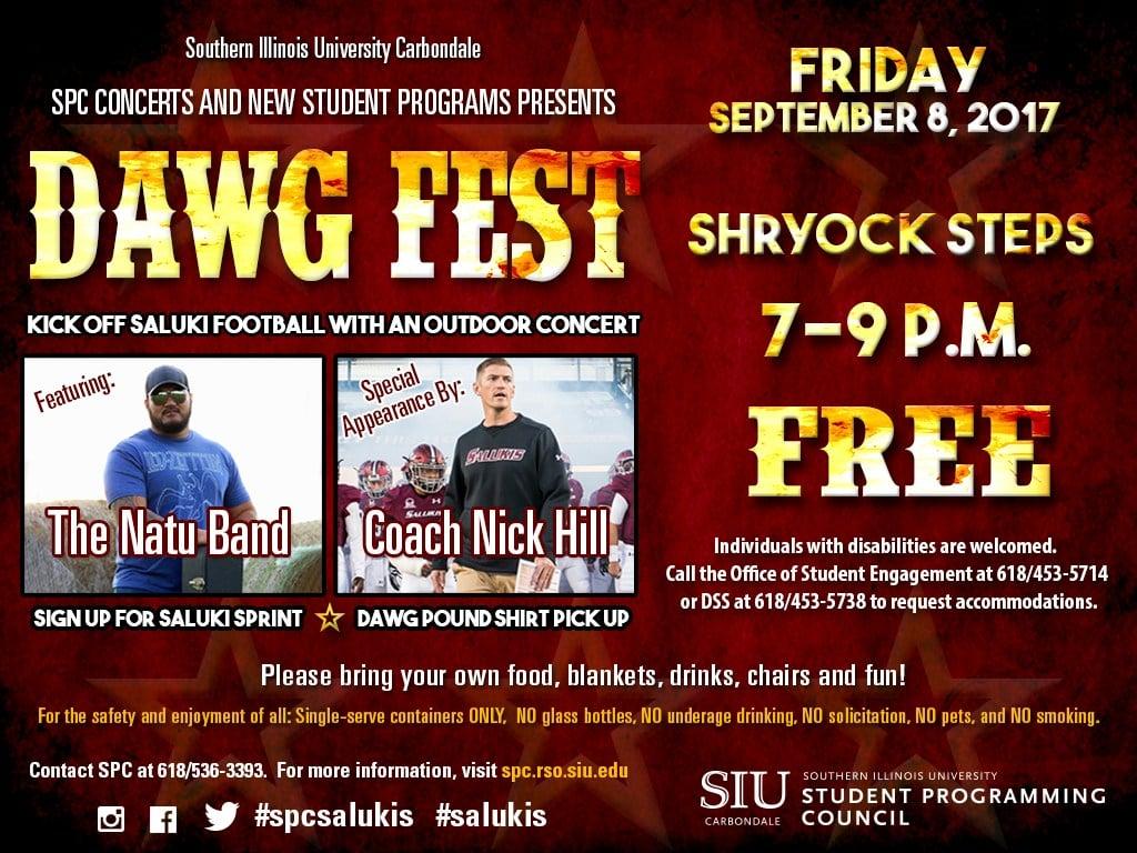 Dawg Fest kicks off Saluki football with free concert - WSIL