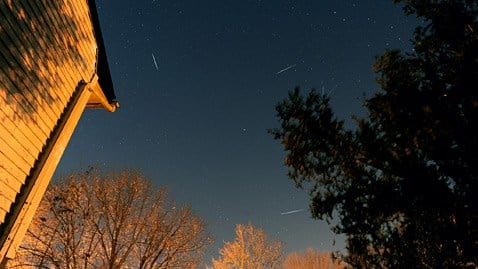 Composite image of Quadrantid meteor shower by Glenn Wester, Smithtown, N.Y.