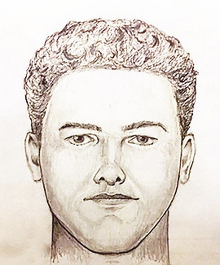 """In this undated police artist sketch provided by the Indiana State Police is the new """"face"""" of the Delphi Murder suspect Monday, April, 22, 2019. Authorities have released video of a man suspected of killing two Indiana teenagers two years ago and urged t"""