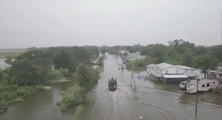 Flooding in Terrebonne Parish, Louisiana.