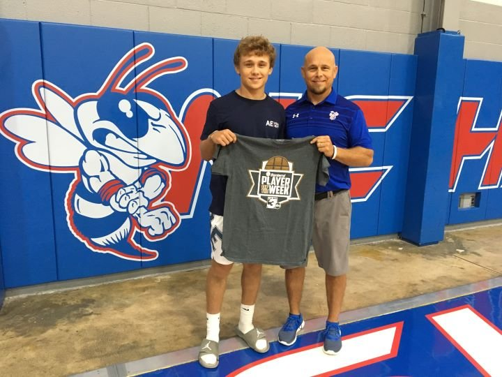 Week 2 WSIL-Banterra Player of the Week: Nashville High School quarterback Cole Malawy pictured with his father and coach, Chad Malawy