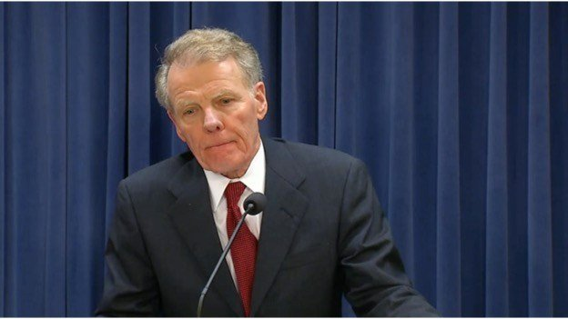 FILE: Speaker Michael Madigan (D-Chicago) at a news conference in November