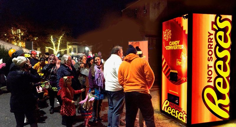Reese's vending machine allows users to trade-in candy