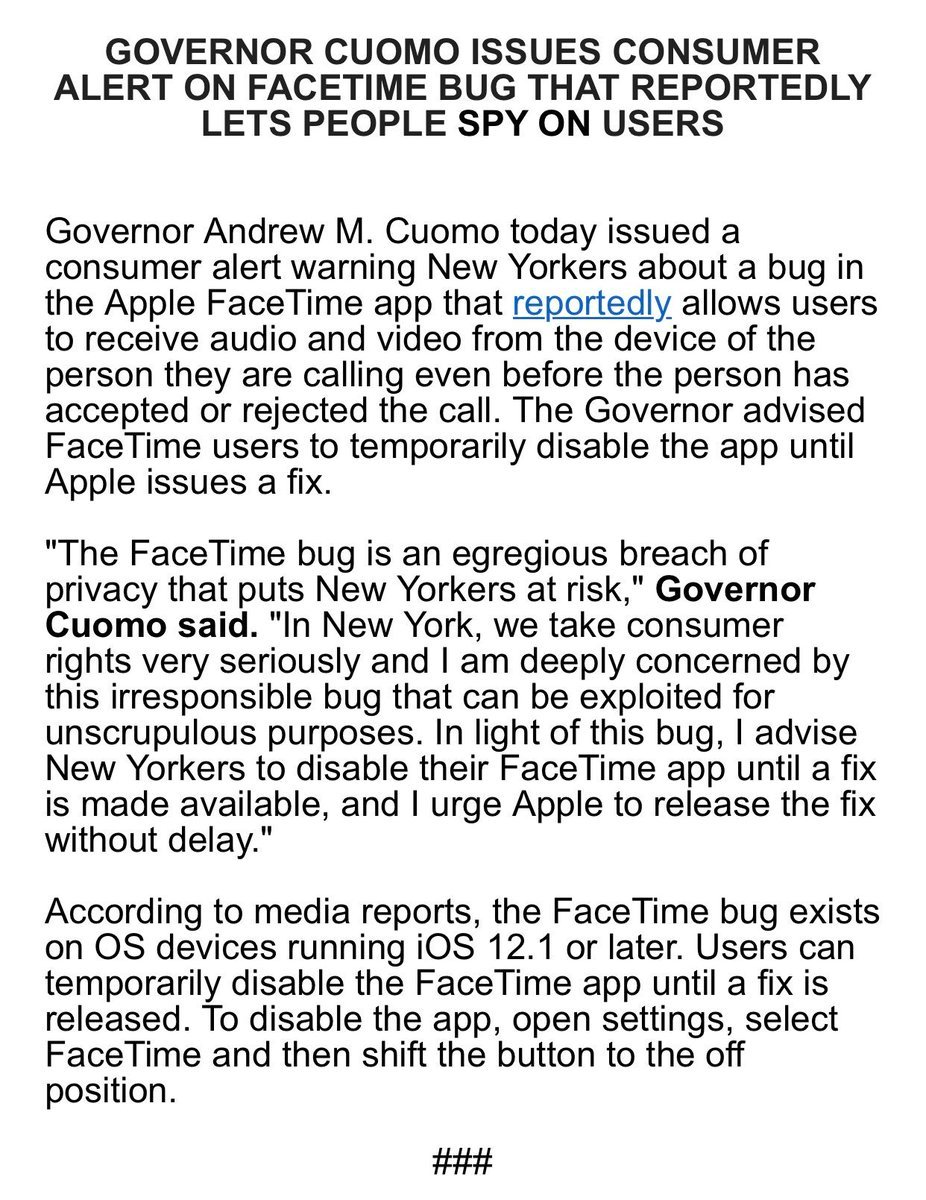Apple FaceTime bug allows iPhone users to listen in on someone b