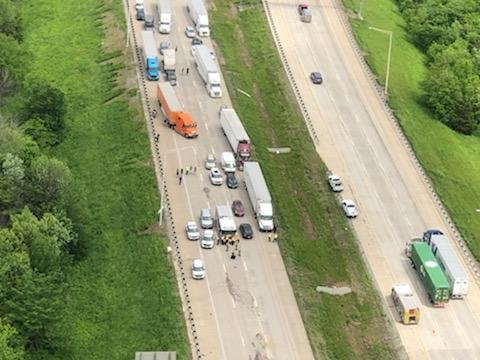 All lanes back open after crash shuts down part of I-57 and